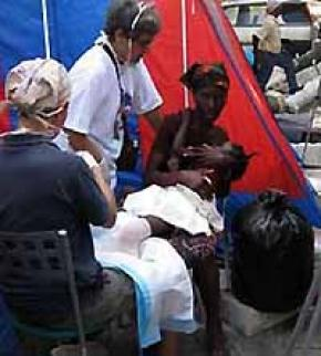 RJM nurses in Port-au-Prince after the 2010 earthquake