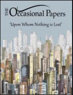 Cover of Occasional Papers.